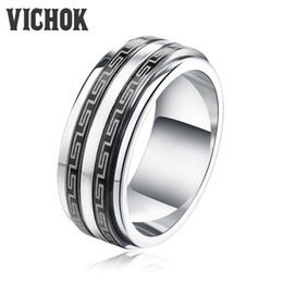 Wholesale Designer Style Rings - Simple Hip Hop Style Band Rings 316 Titanium Stainless Steel Men Ring For Women Men Free Shipping Top Quality New Designer VICHOK