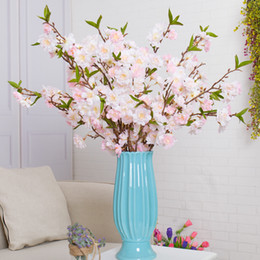 cherry blossom party decorations Coupons - artificial cherry blossom trees fake Sakura Artificial flowers Wishing Tree Wedding Party Home Living room decoration silk flowers flores