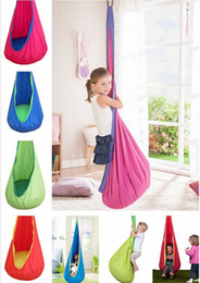 Wholesale Children Outdoor Swing - Baby Pod Swing Swing Children Hammock Kids Chair Indoor Outdoor Hanging Chair Child Seat With Inflatable Cushion