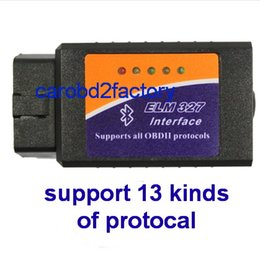 Wholesale Obdii Bluetooth Torque - Android Torque Car ELM 327 OBD2 OBDII Bluetooth Diagnostic Interface V1.5 CAN BUS Support 13 Kinds of Protocal via HK Post Free Shipping