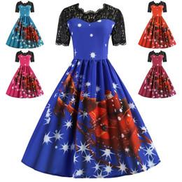 63e5b5e5ed0 JRNNORV 3XL De Noël Dentelle Femmes Vintage Robe Plus La Taille Hepburn  Rétro Rockabilly Swing Dress Feminino Robe Partie Vestidos