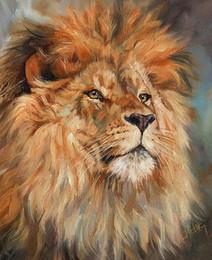 2019 la pittura del leone Artwork-lion-king-Unframed Modern Canvas Wall Art per la decorazione di casa e ufficio, pittura a olio, pitture animali, cornice. la pittura del leone economici