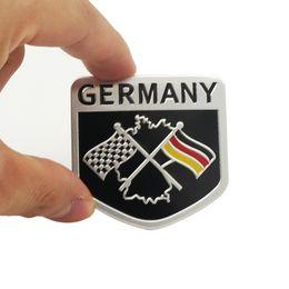 Wholesale Collections Auto - Fashion Germany Flag Collection Deutsch Quality 3D Aluminum Car Auto Badge Emblem 3M Sticker for VW Audi Mercedes Car Styling