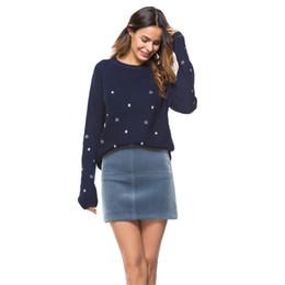 Вышивка рукав вязать свитер онлайн-Kenancy Embroidery Stars O-Neck Sweater Women Pullovers Knitted Long Sleeves Sweater Raglan Sleeves Knitting Tops Pull Femme New