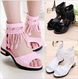 fd039f5ac2563 Patent leather girl sandals 2018 summer new high help Korean version of the  big fish mouth girl high-heeled princess children s shoes