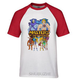 Wholesale Long Cast - He-Man Masters of The Universe Full Cast T-Shirt Men Funny casual streetwear hip hop printed T shirt ringer Tee