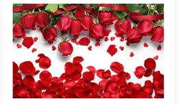 photo wall prints Coupons - Custom 3d Photo Wall paper Original beautiful romantic love red rose flower petals TV background wall Home Decor Living Room Wall Covering