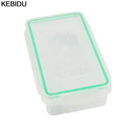 Wholesale transparent battery holder - New 2pcs lot Plastic Batteries Case 18650 battry holder Protective Cases Storage Boxes for Rechargeable Battery Transparent