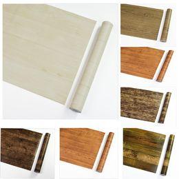 Wholesale Vintage Fiberglass - Wholesale 45cm*10m Textured Wood Grain Vinyl Stickers PVC Waterproof Boeing Film Self Adhesive Wallpapers DIY Furniture Stickers #1