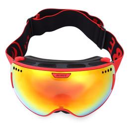 Óculos de visão noturna para adultos on-line-Óculos de Esqui Lente Dupla UV Anti Nevoeiro Unisex Snowboard Óculos de Esqui Com Lente de Visão Noturna Neve Eyewear Adulto