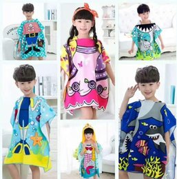 8 styles Children Towels Hooded bathrobes Mermaid bathrobe Kids Robes  cartoon animal shark Nightgown 5f4519eb5