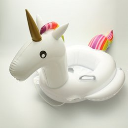 Wholesale Baby Buoy - Baby Inflatable Unicorn Swim Ring Pool Float Water Seat Float Buoy Pool Inflatable Toys Flamingo Unicorn Swim Floats