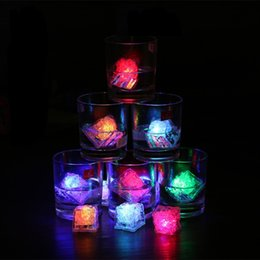 Wholesale Multi Flashing Ice Cubes Lights - High Quality Flash Ice Cube Water-Activated Flash Led Light Put Into Water Drink Flash Automatically for Party Wedding Bars Christmas wen544