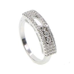 Франция известный бренд Messika 3шт переехал cz кольца для женщин свадебные кольца для пальцев с покрытием из белого золота от