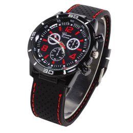 Wholesale Shark Analog Watches - Top Brand Sport Men Wristwatch Male Geneva Watch Luxury Silicone Watchband Military Watches Mens Quartz-Watch Hours Clock Montre