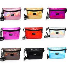 Wholesale hot girls transparent - Pink Women Waist Bag laser Beach Travel Pack Fanny Transparent handbag Fashion Girls Purse Belt Bags Outdoor Cosmetic Bags 8Style Hot