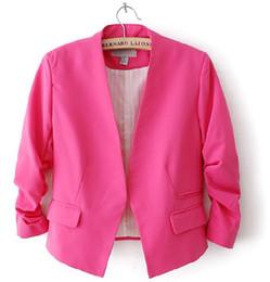 jaqueta de senhora mangas de sopro Desconto Moda Básico Jaqueta Blazer Mulheres Terno Cardigan Puff Sleeve Ladies Outono Plus Size Marca Casacos casuais blazer feminino