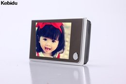 Wholesale Door Eye Camera Lcd - Kebidu Door camera 3.5 inch LCD 120 Degree Peephole Viewer Door Eye Doorbell Color Camera