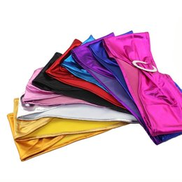 Wholesale Party Supplies Chair Covers - Colourful Chair Cover Sash Gilding Spandex Chairs Bands Wedding Party Supplies Multi Color New 2 5qq C R