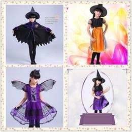 2019 letzte fantasieschuhe Baby Kinder Hexe Halloween Mantel Hut Kostüme Kleinkinder Cape Cosplay Rolle Spielen Dress UpWSJ-03