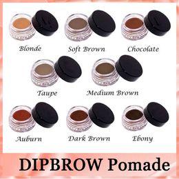 Wholesale Eyebrow Hot - Anastasia DipBrow HOT Pomade Waterproof Makeup Eyebrow 4g Blonde Chocolate Dark Brown Ebony Auburn Hightlighter DHL