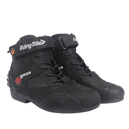 Wholesale high speed motorcycle - Riding tribe PRO-BIKER Motorcycle boots 2018 new design waterproff profesional non-slip speed racing high motocross modern confortable A012