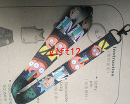 Wholesale Cartoon Holder Strap - Free Shipping New Cartoon Rick And Morty Lanyard ID Holder Mobil Phone Neck Strap Keychain Wholesale D1