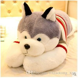 Wholesale Hand Puppet Dog Toy - 20161123Husky dog plush toy doll pillow pillow doll cute dog doll gift girl lying prone cute