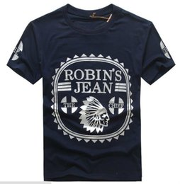 Wholesale Gradient Jeans Men - 12% OFF New Robin T-shirt Mens Robin Jeans T-shirts Man T-shirt Robins T Shirts For Men Bottoming Robins Shirt T-shirt Tops Puls Size 3XL