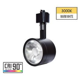 12w ha portato le tracce online-Apparecchio di illuminazione a binario per testa a binario a LED integrato CRI90 con 3000K bianco caldo 110 V 12 W ad angolo regolabile per sistema di binari tipo H