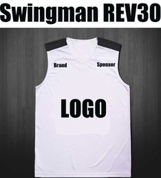 Wholesale Men Sleeveless Tops - 2018 swingman SW rev30 embroidered jersey basketball top quality AU authenic blue black white yellow green