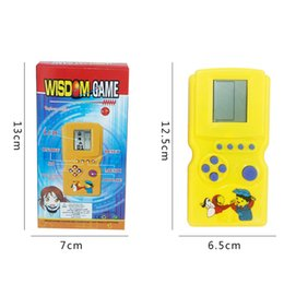 Wholesale funny cute baby boy - 1* Cute Creative Classic Tetris Tetris Handheld Game Console Baby Kids Educational Toys for Children Boys Funny Play Game Gifts