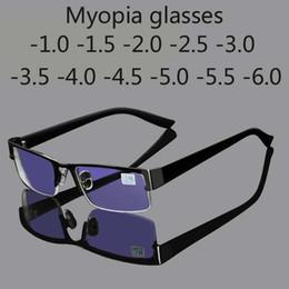 6e440dc081dc1 óculos de raio Desconto Óculos miopia inoxidável o computador homens óculos  óculos anti blue ray quadro