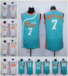 Stitched Men s Semi Pro Movie Flint Tropics  69 Downtown Jersey  11 Ed  Monix  7 Ed Monix  33 Jackie Moon Embroidery Jerseys White Green 82743f68c