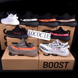 Wholesale Cut Factory - 2017 Factory Direct Sale Kanye West Boost 350 V2 Beluga SPLY-350 Orange Stripes Zebra Peach Men Women Running Shoes Boost 350 XZ01