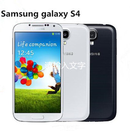 Wholesale galaxy s4 backs - Original Unlocked Samsung Galaxy S4 SIIII I9500 i9505 Cell phones Quad-core 3G&4G 13MP Camera 5.0'' 2GB 16GB NFC WIFI GPS Refurbished Phone