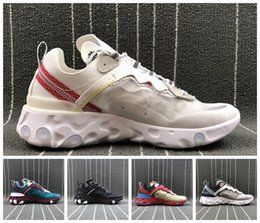 Wholesale womens training top - Top Quality UNDERCOVER x Upcoming React Element 87 Pack Sneakers Men Women Running Shoes Training Shoes Mens Womens Trainers Sneakers 36-45