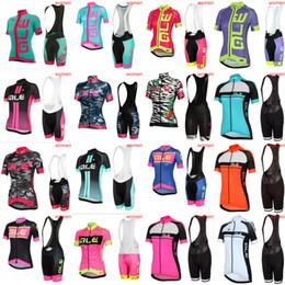 Wholesale Ale Cycling Jerseys - Pro Women Team 2018 ALE Cycling Jerseys Sets Bicycle Clothes Breathable Short Sleeves Shirt Bike Bib Shorts Cycling Clothing 3284