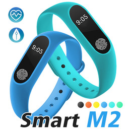 Wholesale Pedometer Rate - M2 Smart Wristbands Fitness Tracker Heart Rate Monitor Waterproof Activity Tracker Smart Bracelet Pedometer Call remind with Retail Package