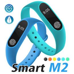 Paquetes gps online-M2 Fitness Tracker Banda de reloj Monitor de ritmo cardíaco Rastreador de actividad a prueba de agua Pulsera inteligente Podómetro Recordatorio de salud con paquete