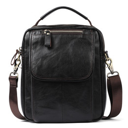 Nesitu High Quality Coffee Real Skin Genuine Leather Small Men Messenger  Bags Men s Bag For Mini ipad Men Shoulder Bag M6368 a4354f96a9927