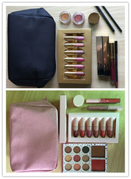 Wholesale Gloss Pink - Dropshippipng Golden Box Gloss Suits Makeup Bag Birthday xI want it all pink limited Edition Cosmetics Birthday Bundle Bronze