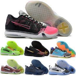 Wholesale Kb Shoes Elite - 2018 Kobe 10 X Elite Low Men Basketball Shoes Cheap KB HTM Lab LNZ1 FTB ZK10 Man Sporst Sneakers Size 8-12