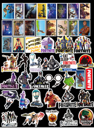 Wholesale game stickers - 46 pcs set Game Fortnite Sticker Personality Luggage DIY stickers cartoon PVC Wall stickers bag accessories kids gift MMA280