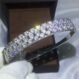 Canada Haute Qualité Étincelant Bracelet De Mariée Diamant S925 Argent Rempli Bracelet de fiançailles pour les femmes accessoires de mariage Bijoux Offre