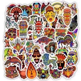 Etiqueta tribal on-line-50 PCS À Prova D 'Água Animais Étnicos Adesivos Brinquedos para Crianças Do Doodle Tribal Totem Decalques para DIY Laptop Telefone Moto Presentes para Crianças Adolescentes