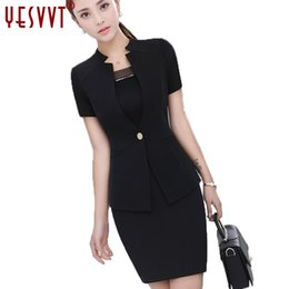 Wholesale Women S Office Wear - yesvvt 2017 fashion women stripe skirt suits Female office work wear blazer & skirt coat Jacket Business S M L XL XXL XXXL 4XL