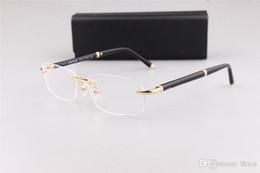 Montatura classica per occhiali da vista da uomo modello classico 374 senza montatura per occhiali da vista con imballo originale marca OME cheap rimless prescription glasses da occhiali senza prescrizione fornitori