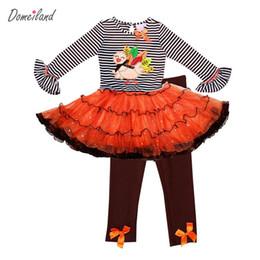 Argentina 2016 marca de moda primavera baby party girls boutique trajes de acción de gracias 2 unids pavo tutu vestido de raya pantalones de la colmena trajes Suministro