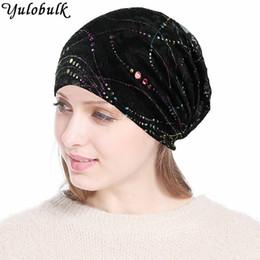cappello di pizzo beige Sconti Donna Traspirante Chemo Cappelli Donna  Turban Hat Slouchy Beanie Donna Colorata 15b624554420